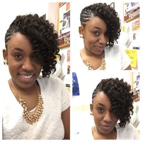 styles for crochet kanakelon hair braided updo with kanekalon hair crocheted and curled to