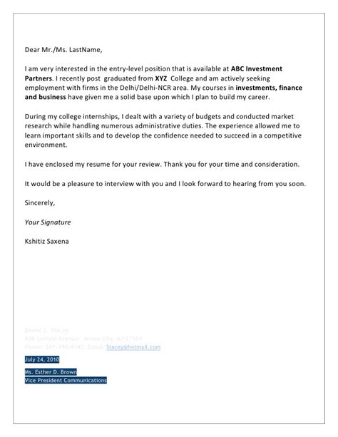 cover letter looking forward to hearing from you cover letters