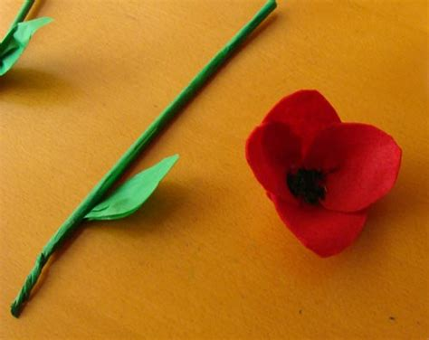 How To Make Tissue Paper Poppies - tissue paper poppies crafts for