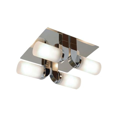 Endon Bathroom Lights Enluce Bathroom Chrome El 20043 Flush 4 Light Ceiling