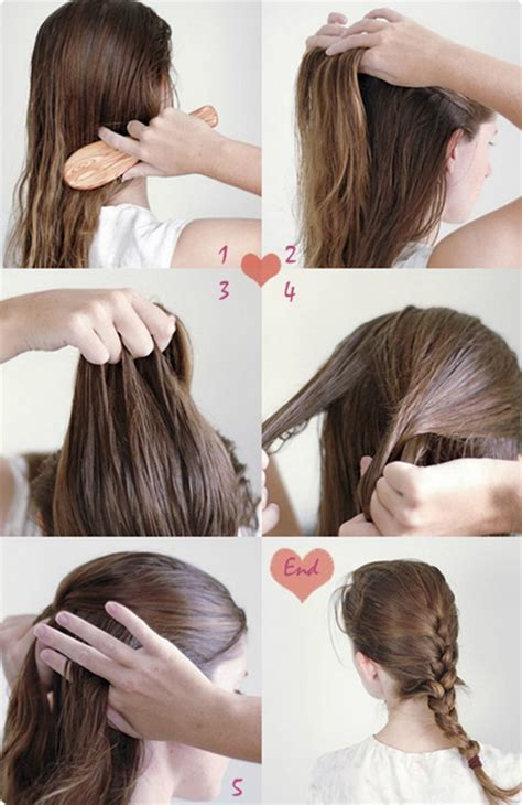 easy hairstyles step by step with pictures simple hairstyles for long hair step by step