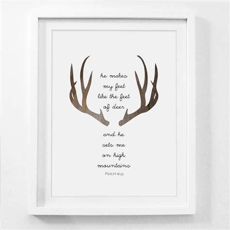 printable religious images printable art deer bible verse deer prints modern christian