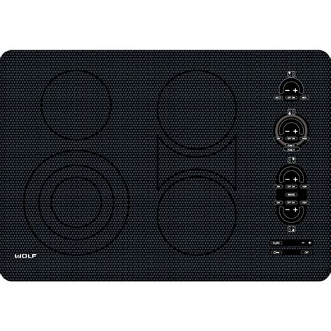 Wolf 30 Cooktop wolf ct30eu 30 quot electric cooktop frameless