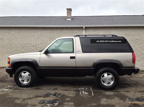 1999 2 Door Tahoe by 1999 Chevrolet Tahoe Lt Sport Utility 2 Door 5 7l Sport