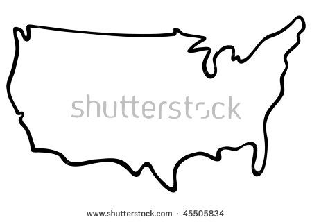 us map outline vector united states outline clipart bbcpersian7 collections