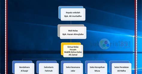 cara buat struktur organisasi sekolah cara membuat struktur organisasi dengan word video
