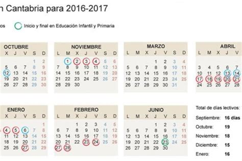 Calendario Escolar Cantabria Calendario Escolar Acade