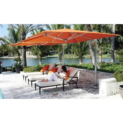 Best Patio Umbrella by Outdoor Garden Best Orange Patio Cantilever Umbrella