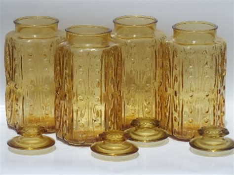vintage glass canisters kitchen vintage glass canisters kitchen canister jars set of 4