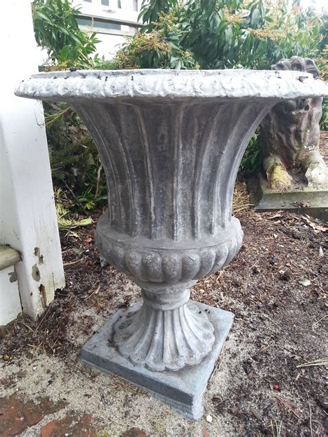 Lead Planters For Sale by Lead Urn Planter With Scallop Side Details For Sale At 1stdibs