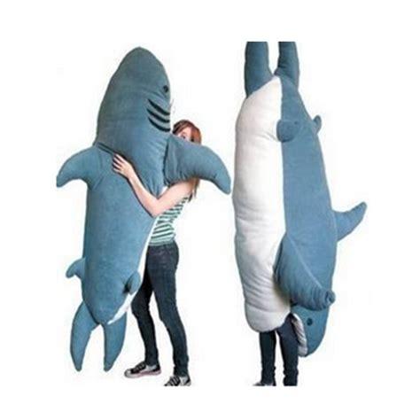 Shark Plushie fancytrader pop shark plush sleeping bag bite me