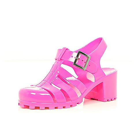pink jelly heel sandals sandals shoes boots