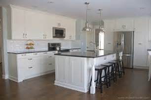 how much overhang for kitchen island home improvement adding column supports to counter overhang plus finished kitchen photos