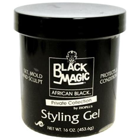 Styling Gel On Black Hair | black magic styling gel