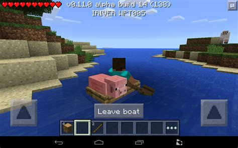 minecraft dog on boat minecraft pocket edition 0 11 how to make a boat