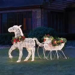 outdoor lighted sleigh the lighted sleigh hammacher schlemmer