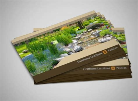 business card template landscape 8 landscaping business cards printable psd eps format
