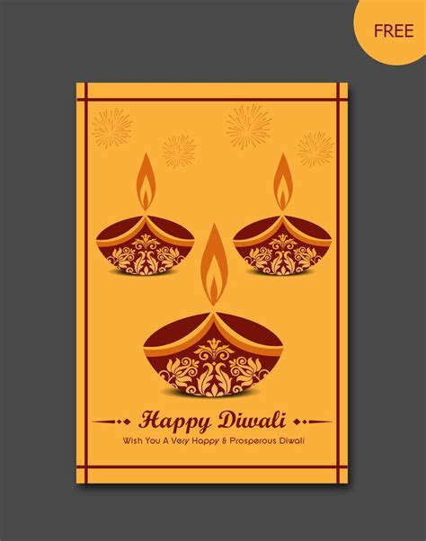 free diwali cards templates 26 best diwali vector templates images on