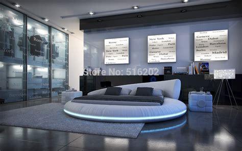 bett luxus achetez en gros lit rond de cuir en ligne 224 des grossistes