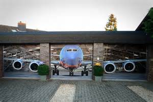 Airplane Wall Mural style your garage mandesager