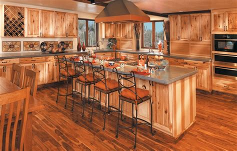 rustic cabinets knotty hickory dream home