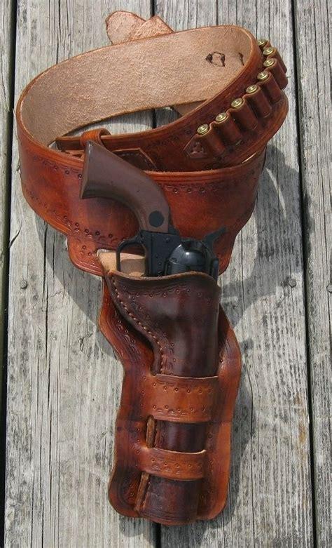 made western gun belt and loop holster by