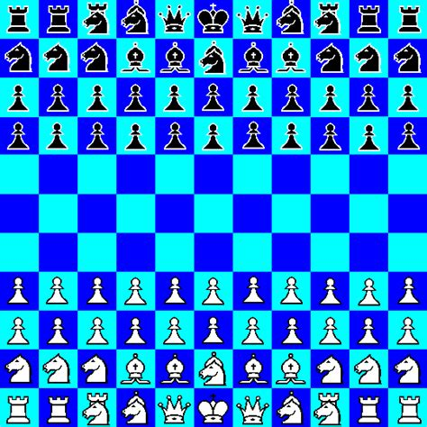 layout for chess game undenary chess