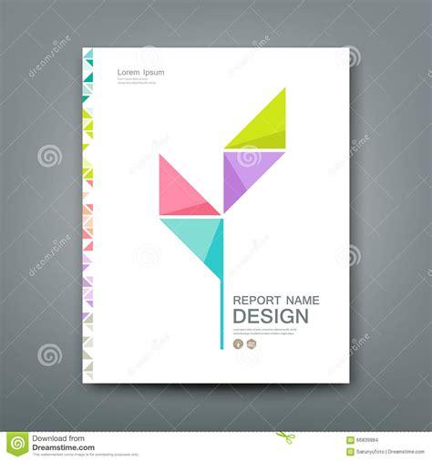 design concept paper cover annual report colorful tree origami paper stock