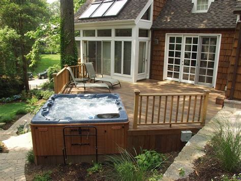 Patio Deck Designs Tub 25 Best Ideas About Outdoor Tubs On