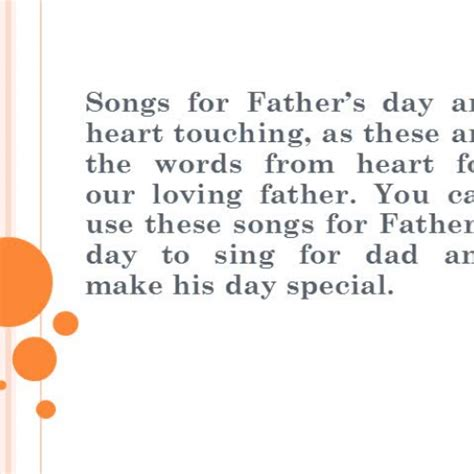 best songs for fathers day