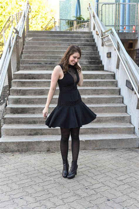 Little Black Dress With Stockings