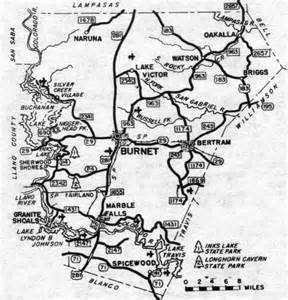 burnet county map burnet county maps and gazetteers