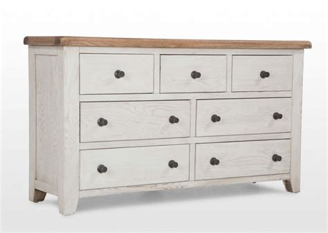 white chest of white wide chest of drawers