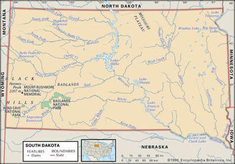 physical map of south dakota stock illustration physical map of south dakota showing