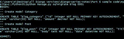 django tutorial makemigrations python programming tutorials