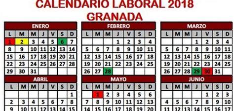 Calendario 2018 Granada Calendario Laboral Ideal