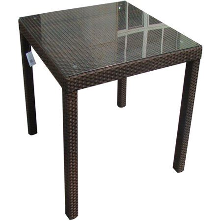 Monza By Table Toys monza all weather wicker square bar table brown walmart