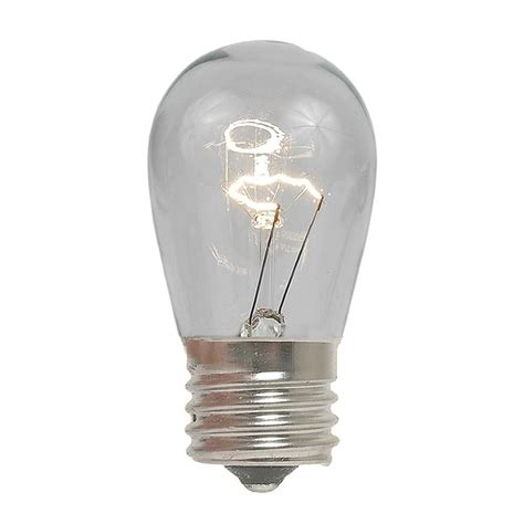 s14 clear bulbs 11 watt e27 base novelty lights inc