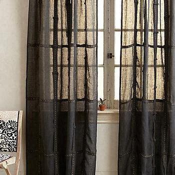 plum and grey curtains plum and bow grey ruffle gauze curtain