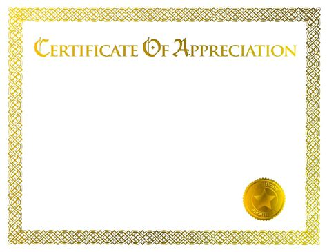 certificate design blank templates blank certificate of appreciation templates