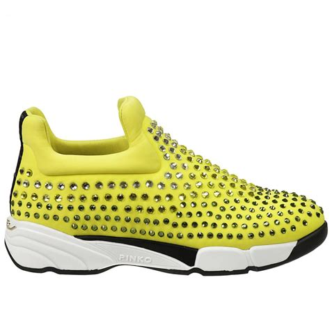 womens yellow sneakers pinko s sneakers in yellow lyst