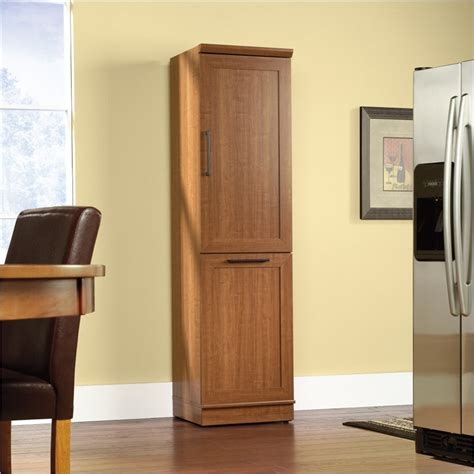 Sauder Pantry Storage Cabinet by Sauder Homeplus Storage Cabinet Oak Pantry Ebay