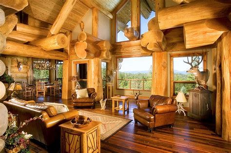 mountain homes interiors oregon log house retreat house of the day photos