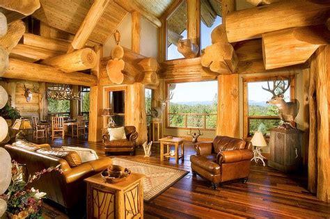 mountain homes interiors oregon log house retreat house of the day photos cabina interiores de caba 241 a y troncos de