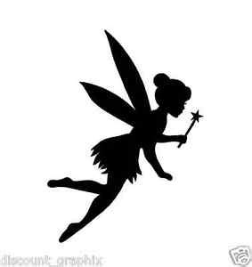 Disney Fairies Wall Mural fairy wand silhouette sticker decal tink princess usa