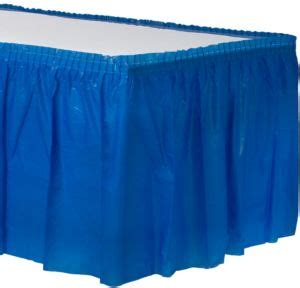 city table skirts royal blue plastic table skirt 168in x 29in city
