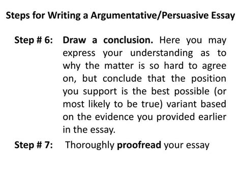 Steps Of Essay Writing by Ppt Argumentative Persuasive Essay Powerpoint Presentation Id 2930501