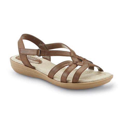 kmart womens sandals basic editions s alsie brown slingback sandal