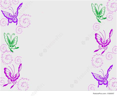 templates butterfly border stock illustration i1260007