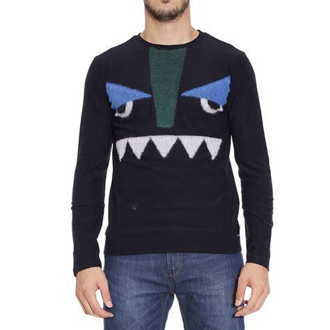 Fendi Sweater fendi sweater in blue for lyst